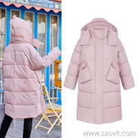 MG elephant in the long section of thick cotton coat women loose fashion warm cotton jacket winter new students chic cotton clothing tide