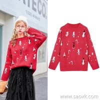 MG baby elephant lazy wind pullover sweater female winter new loose casual sweater fashion personality bottoming shirt