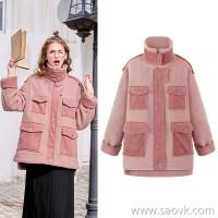 MG elephant winter lamb woolen coat female loose casual 2018 new student thick warm woolen coat