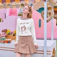 MG elephant winter retro skirt female student chic skirt 2018 new fashion high waist a word skirt tide