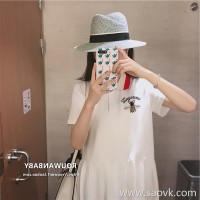 European station 2018 summer new small fresh age-reduction skirt girl sukol loose slim polo dress
