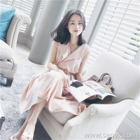 European station minimalist literary dress retro sukol girl heart skirt c super sensen female waist dress summer