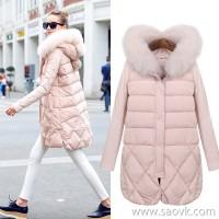 MG elephant big fox fur collar down jacket female long section 2018 winter new thick warm fashion coat tide