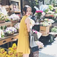 European station 2018 new women's summer ins super fire Hong Kong flavor girl heart small loose dress