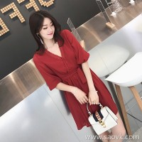 European station 2018 new Korean version of the gentle wind was thin summer chiffon skirt Hong Kong taste small children's dress