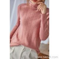 の[ZY158854VG] 笑涵阁 Three-dimensional texture Heap of a pile of comfortable cashmere knit long-sleeved sweater