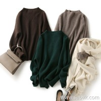 の[W563913] Low-key luxury aristocrats, each body is well-controlled! Yak velvet half-neck sweater