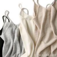 α[ZY158610AG]笑涵阁 Good tailoring tailoring Pure cashmere knit sling Four colors optional