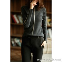 の[ZY116646AL] 笑涵阁 Early autumn temperament new products Half-high collar 3 colors Wool knitted sweater