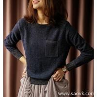 の[ZY158549AG] 笑涵阁 If the stars shine, shine, gold and silver inlaid wool sweater