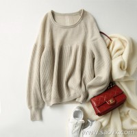 の[ZY117520AL] 笑涵阁 Clouds worn in the body Cashmere small sexy bright silk sweater