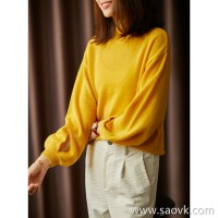 [ZY117522AL] Cashmere sweater, it must be bright enough to look good ~ cuffs hollow cashmere sweater