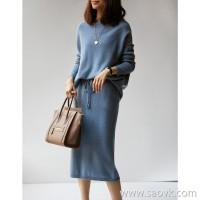 の笑涵阁 Elegant and effortless lazy BI preparation! Very love color, wool sweater / half skirt suit