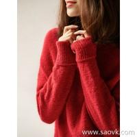の[ZY118704AL] Xiao Han Ge mysterious Eskimo 5 color optional pile of high collar wool sweater