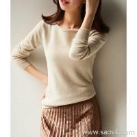 の[ZY117909AL] 笑涵阁 simple lazy feeling BI into the fried chicken soft 糯 wool cashmere pullover sweater