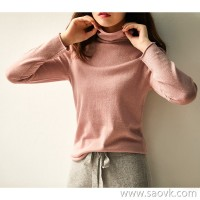 の[ZY118401AL] It is fashionable to protect the warmth of the neck! Basulan wool pile collar sweater