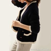 の[ZY158461VG] Xiaohan Pavilion Finally waiting for you! Large V-neck ~ slimming full cashmere knit cardigan
