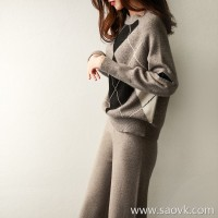 の[ZY117648VL] Plateau 臻 牦 牦 ,, DA brand with the same paragraph to stay! College rhombic sweater