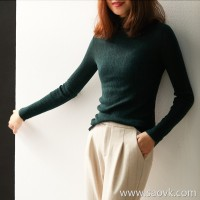 の[ZY119606AL] Laughing Hange is not tight and delicate, half-high collar full wool pit knit pullover