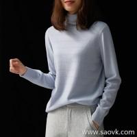の[ZY117530AL] Xiaohan Pavilion Fried soft touch! Bright eyed pile of collar sweater