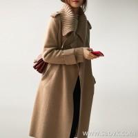 の[ZY158551VG] 笑涵阁 High-end series of self-contained gas field long wool cashmere knit coat