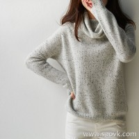 の[W565197]笑涵阁 French lazy pile of collars Consoni set spinning point yarn cashmere sweater