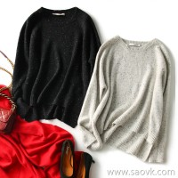 の[W565209] 笑涵阁 Drunk not picking the small silhouette classic style point yarn cashmere pullover