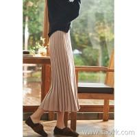 の[ZQ158695AG] Laughing Hange is eye-catching romantic color Gradient wide pits Warm wool-containing knit skirt