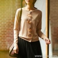の[ZY158698AG] Xiao Han Ge Ballet Girl Handmade Series Wool Cardigan (Autumn and Winter)