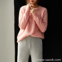 の[ZY158814VG] 笑涵阁 Soft and comfortable CHAO young horse hairy Loose pullover sweater