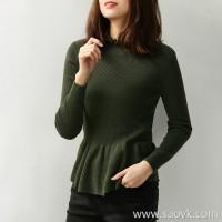 の[A564008] The fungus of the fungus is drunk! Just high-warm all-wool bee waist sweater