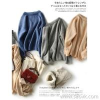 の[A563230] Heart is not as good as action CHAO will receive baby mohair loose pullover sweater