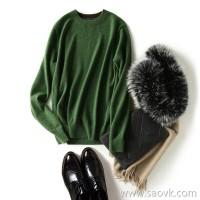 の[ZY158856AG] Xiaohange Town Shop is pure! High style ~ long sleeve cashmere sweater sweater male