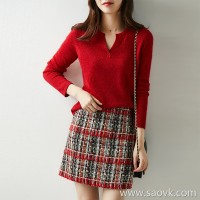 [ZY158815AG] Xiaohan Pavilion Ying Ying Sparkling Light Luxury JIN yarn yarn cashmere sweater
