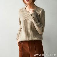の[ZY158800VG] 笑涵阁 Winter Warm Heart Full Cashmere Round Neck Sweater Knit Pullover