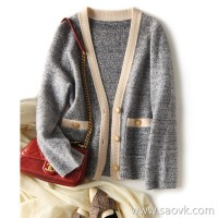 の[ZY158709AG] Xiaohan Pavilion is soft and boned! Flower texture, small fragrance, color knit cardigan