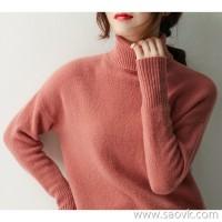 の[ZY122008VL] Laughing Hange put on a good warmth! High collar gives the neck warmth! Wool sweater
