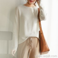 の[ZY158205AG] 笑涵阁美美炒舒适 Comfortable one-piece pure wool round neck sweater