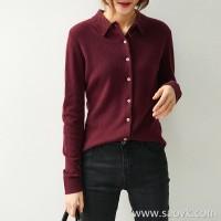 の[ZY158777AG] 笑涵阁 non-BI must core single product own love of pure color cashmere shirt sweater