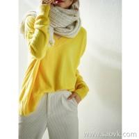 の[W565112] 笑涵阁 显白鹅蛋蛋定纺康赛妮 全羊绒桃心领衫
