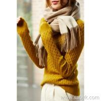 の[ZY158803VG] Elegant and temperament! Light luxury and expensive! V-neck twisted full cashmere sweater