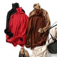 の[ZY125078AL] 笑涵阁 High-elastic not tight and delicate skin-friendly wool high-necked bottoming sweater