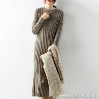 の[ZQ158767VG] is impressed by gentle temperament and fashionable online cashmere whistle dress