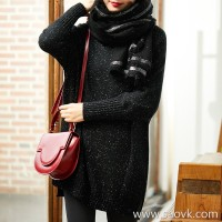 [ZY158842VG] Xiaohan Pavilion wears a high rate of appearance! Idea yarn wool long sweater sweater