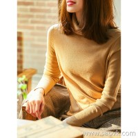 の[ZY158388VG] 笑涵阁 Delicate body feelings Beauty love 16g pure wool high collar bottoming shirt