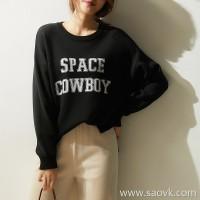 の[ZY158570VG] Xiaohan Pavilion at the end of the year can be worn many seasons letter jacquard full wool sweater