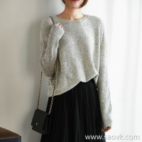 の[W564833] 笑涵阁 Yan value quality with point yarn full cashmere bat sleeve pullover
