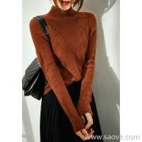 の[ZY158584VG] Xiaohan Pavilion is very beautiful in the single wear. Three-dimensional silk flower cashmere sweater