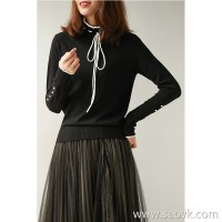の [W565201] Han Court laugh TE 120 hairs article Yangzi yarn winter sweater neckline tether 16G