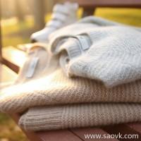 の[W565014] 笑涵阁 Italian craft new yarn cashmere & mulberry silk front and back pullover